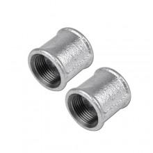 """2x Raccordo manicotto 3/4""""x1/2"""" raccordi acqua acciaio idraulica impianti tubi"""