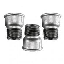 """3x Raccordo maschio femmina 1/2"""" raccordo acciaio idraulica impianti tubazione"""