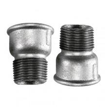 """2x Raccordo maschio femmina 3/4"""" raccordo acciaio idraulica impianti tubazione"""