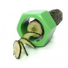 Affettaverdure affettatore cetrioli cucumber e verdura con forma allungata a spirale continua