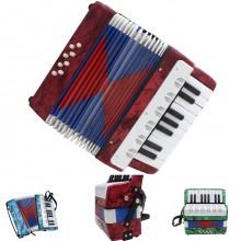 Mini Fisarmonica Organetto regalo per Bambini Tastiera Musicale 17 Tasti 8 Bassi