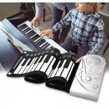 Tastiera musicale elettronica pieghevole in silicone flessibile 49 tasti musica