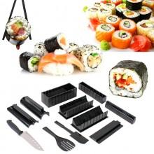 Kit per fare sushi varie forme coltello accessori arrotolare stampi tagliare