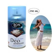 3x Deodorante ambiente 250ml ricarica erogatore automatico aroma di Aria di mare