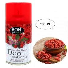 3x Deodorante ambiente 250ml ricarica erogatore automatico aroma Bacche di goji