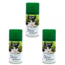 3x Deodorante ambiente 250ml ricarica erogatore automatico aroma Muschio bianco
