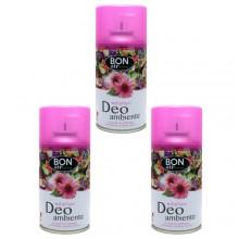 3x Deodorante ambiente 250ml ricarica erogatore automatico aroma Millefiori