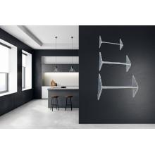 3x mensole porta oggetti arredamento da parete per casa fissaggio con ventose