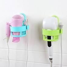 Porta asciugacapelli da muro fissaggio senza trapano a ventosa in plastica dura con supporto presa