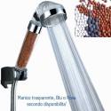 Soffione doccia vasca relax pietre naturali filtranti risparmio acqua massaggio