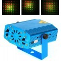 Mini proiettore laser effetto luci disco DJ discoteca festa party music light