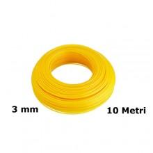 Filo di ricambio decespugliatore zincato plastificato 3mm x 10mt giallo giardino