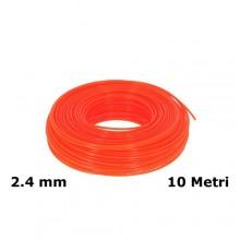 Filo di ricambio decespugliatore zincato plastificato 2.4mm x 10mt arancione
