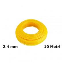 Filo di ricambio decespugliatore zincato plastificato 2.4mm x 10mt giallo