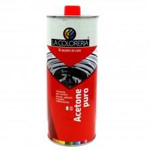 Acetone puro 1 litro liquido limpido incolore miscelabile solvente smacchiatore