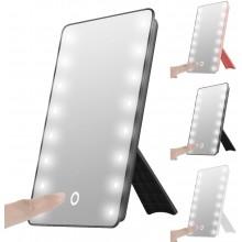 Specchio Trucco Con 16 Luci Led Mirror Makeup Da Tavolo Regolabile 180 gradi
