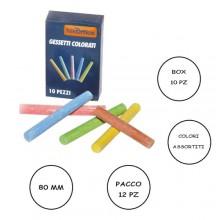 10x Gessi gessetti colorati classici antipolvere 7.8 cm lavagna carta cartoncino