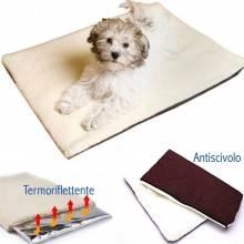 Tappetino a tre strati per cani gatti e animali domestici termo riscaldata riflette il calore calda copertina antiscivolo