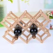 Cantinetta cantina portabottiglie in legno per 10 bottiglie scaffale richiudibile