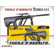 Mitra Fucile D'Assalto Cobra-301 Gioco Giocattolo Bambini 6x23x51 Cm Mirino