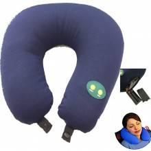 Cuscino da viaggio morbido per il collo cuscino cervicale con funzione vibrante e massaggiante alimentato a batterie