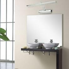 Applique lampada da parete cromata muro specchio bagno 27 led luce fredda