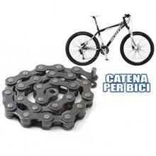 "Catena ricambio bicicletta 1/2"" x 3/32"" 116 Maglie strada bike acciaio bici 116L"