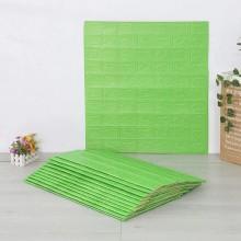 2x pannelli da parete 3D effetto pietra carta da parati 70x77 cm schiuma PE verde