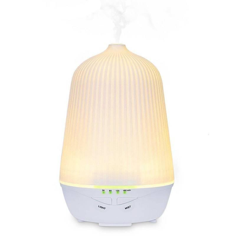 Diffusore di aromi umidificatore aromaterapia purifica aria e colorata lampada di design 100ml - Diffusore lampada relax design
