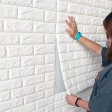 2x pannelli da parete 3D effetto pietra carta da parati 70x77 cm schiuma PE blu