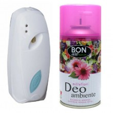 Deodorante ambiente 250ml con erogatore automatico aroma millefiori ricarica