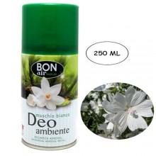 Deodorante ambiente 250ml con erogatore automatico aroma muschio bianco ricarica