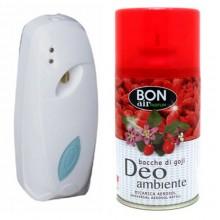 Deodorante ambiente 250ml con erogatore automatico aroma bacche di goji ricarica