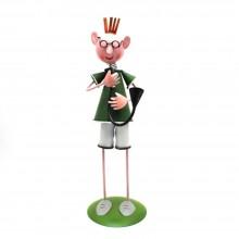 Statuetta in ferro FM 070 fatta a mano complemento arredo bomboniere ferma carte