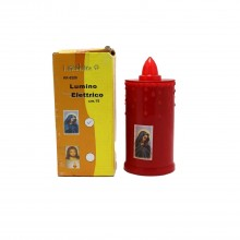2x Lumino votivo candela elettrico Led batteria rosso altezza 15 Cm cero fiamma