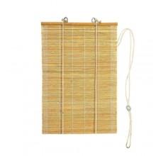 Tapparella tenda a rullo con listelli in bambù 150x300 Cm finiture in cotone