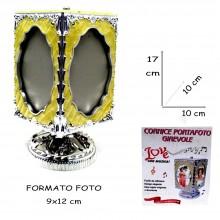 PORTAFOTO 17x10 Cm CON ROTAZIONE AUTOMATICA 360° CORNICE GIREVOLE
