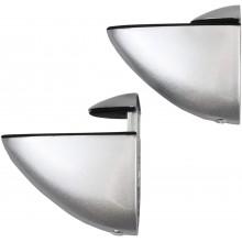 2x Staffe di fissaggio per mensola in vetro cromato lucido bagno staffa Max 20Kg