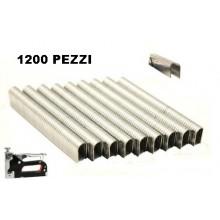 1200X Graffette metalliche a U piatte per graffettatrice 1006J punte di metallo