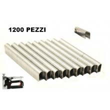 1200X Graffette metalliche a U piatte per graffettatrice 1010J punte di metallo