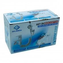 Set di doccetta per lavabo bagno prolunga rubinetto miscelatore doccino acciaio