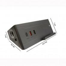Multi presa caricabatterie da auto accendisigari USB Wireless stazione ricarica