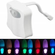 Lampada notturna per bagno wc tazza Led con sensore e 8 colori diversi - Facilita l'uso del bagno per bambini anziani