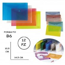 BUSTA A BOTTONE B6 MYDESK 10.5 x 14.5 CM COLORI ASSORTITI 12PZ
