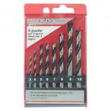 Set da 8 punte da trapano professionali ideali per legno Kombo FE628 bricolage