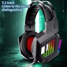 Cuffie gaming con microfono per PS4 PC con LED RGB Andowl Q-E8 multi giocatore