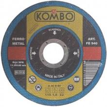 2 Dischi da taglio Kombo 115 x 1,6 x 22 mm dischi abrasivi in ferro supersottili