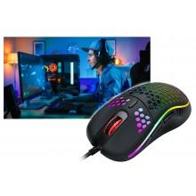 Mouse da gioco cablato ambidestro GAMING RGB illuminato LED leggero 6 Pulsanti