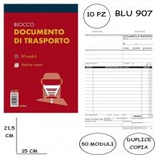 BLOCCO DDT DOCUMENTO DI TRASPORTO DOPPIA COPIA AUTORICALCANTE 10PZ