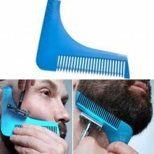 2 x Pettine taglio barba curvo cura baffi basette regola barba precisione 2pezzi